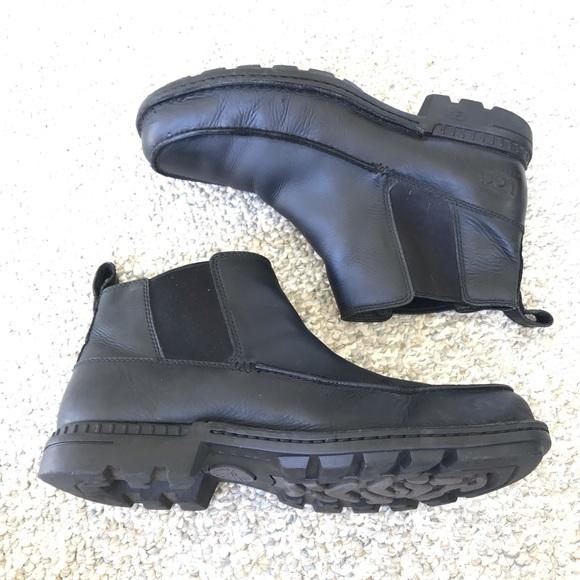 8e8999ea26f Ugg black leather boots
